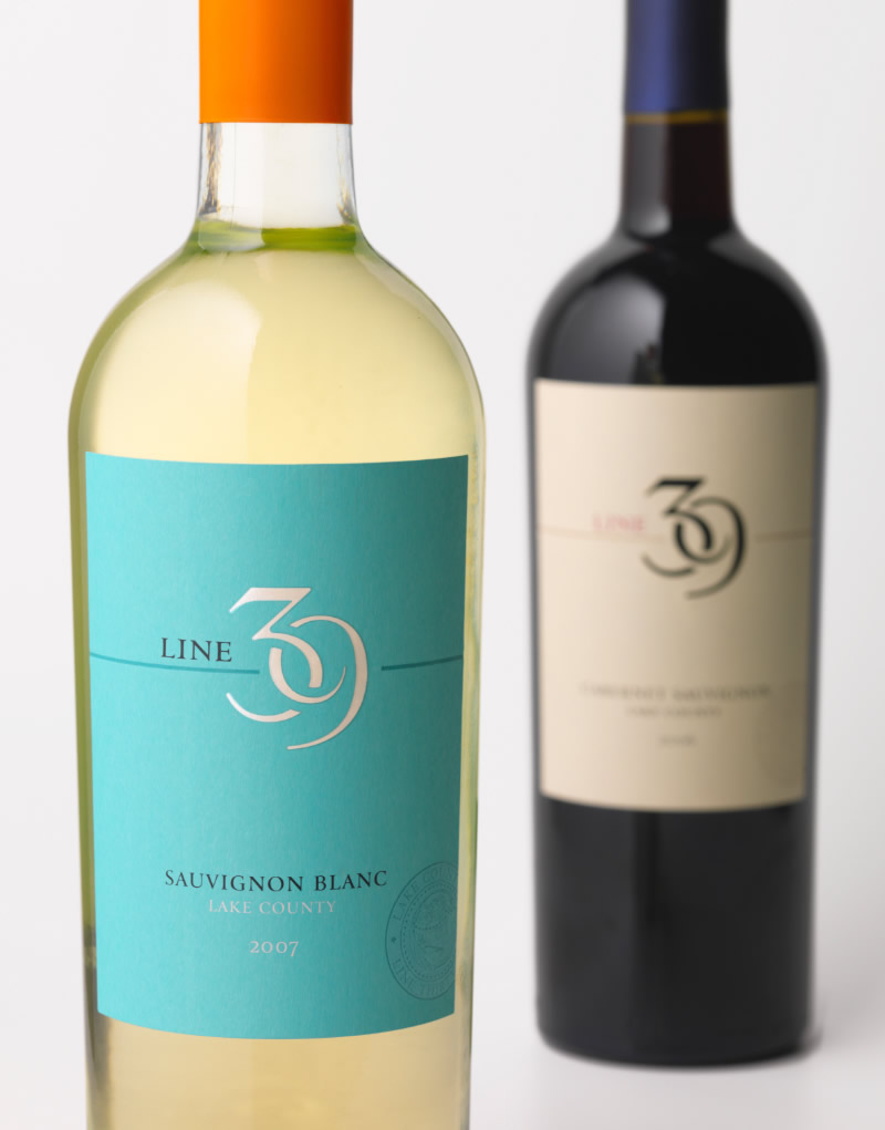 Line 39 Wine Packaging Design & Logo