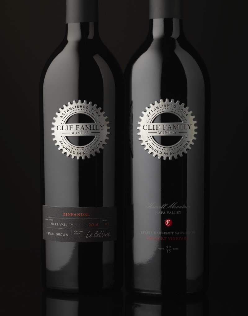 Clif Family Winery Packaging Design & Logo Vineyard Designate