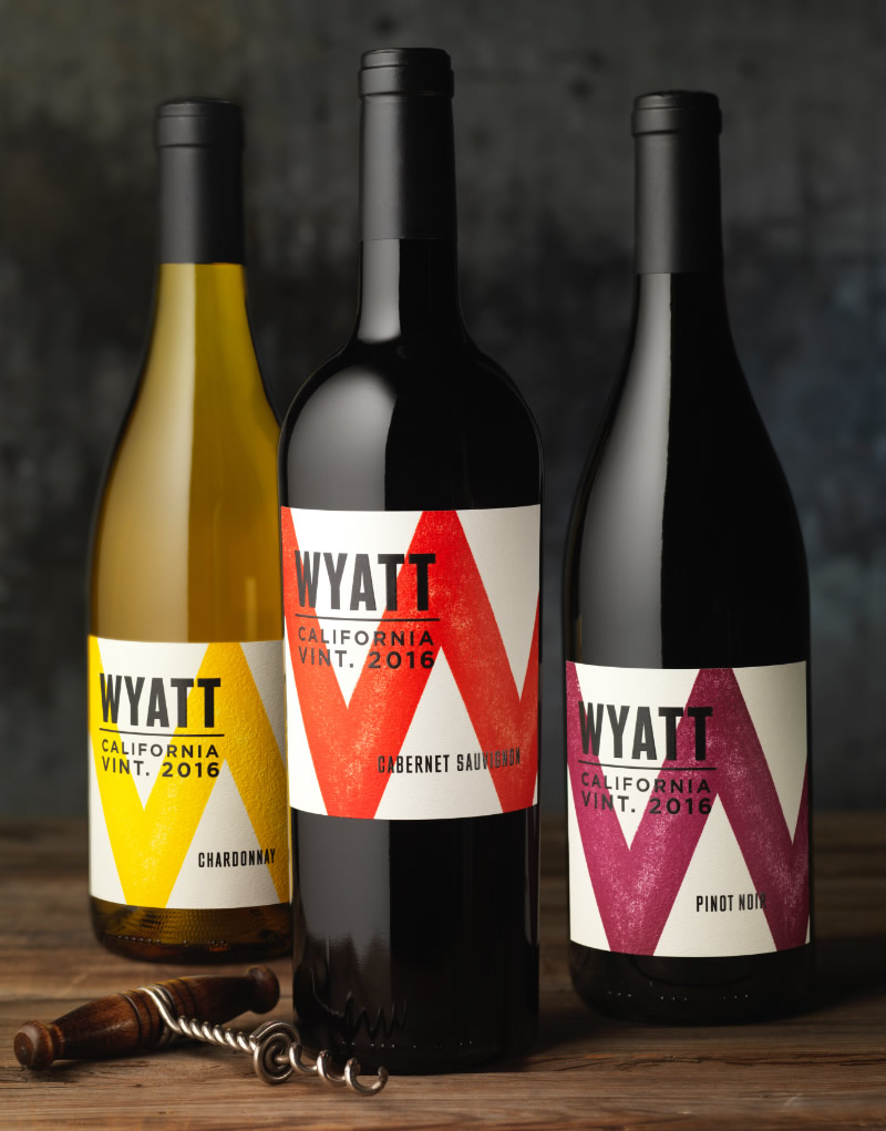 Wyatt Wine Packaging Design & Logo