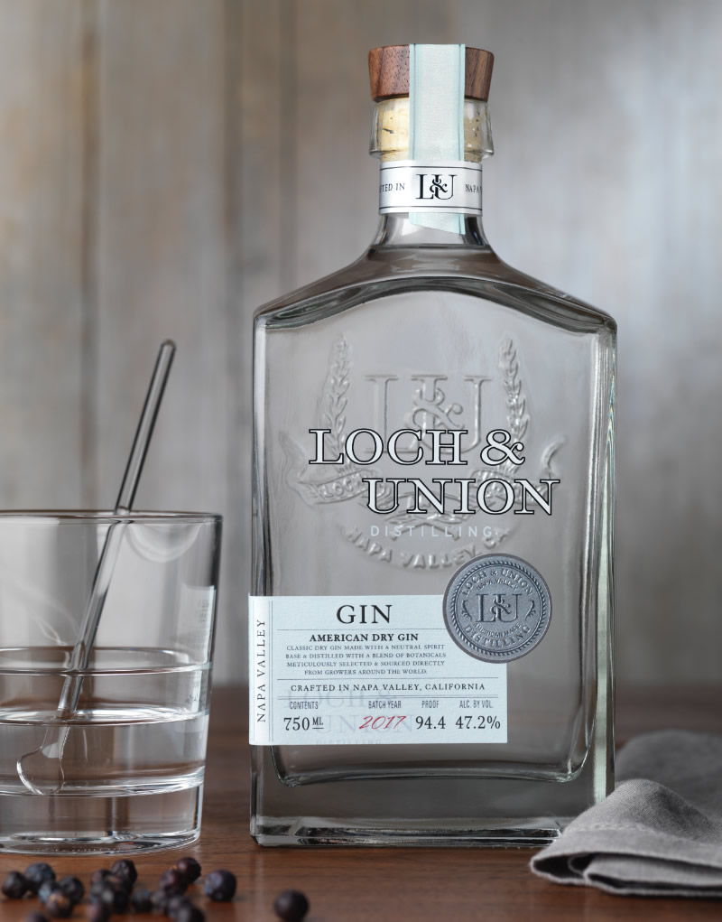 Loch & Union Distilling Gin Packaging Design & Logo Dry Gin