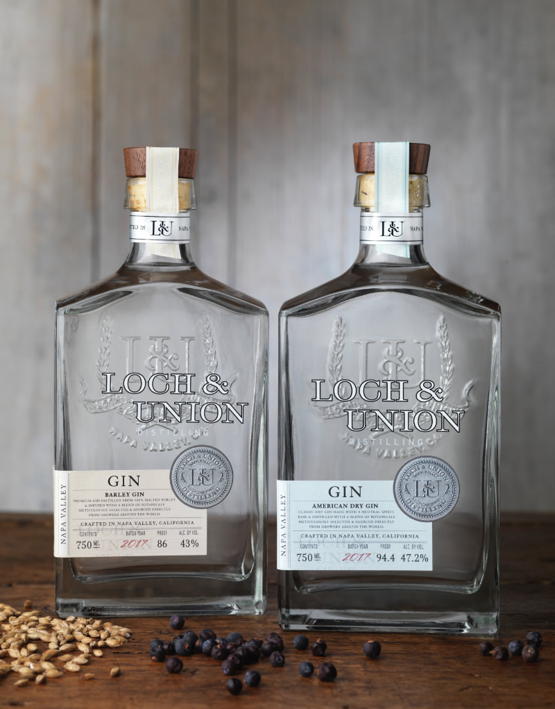 Loch & Union Distilling Gin Packaging Design & Logo