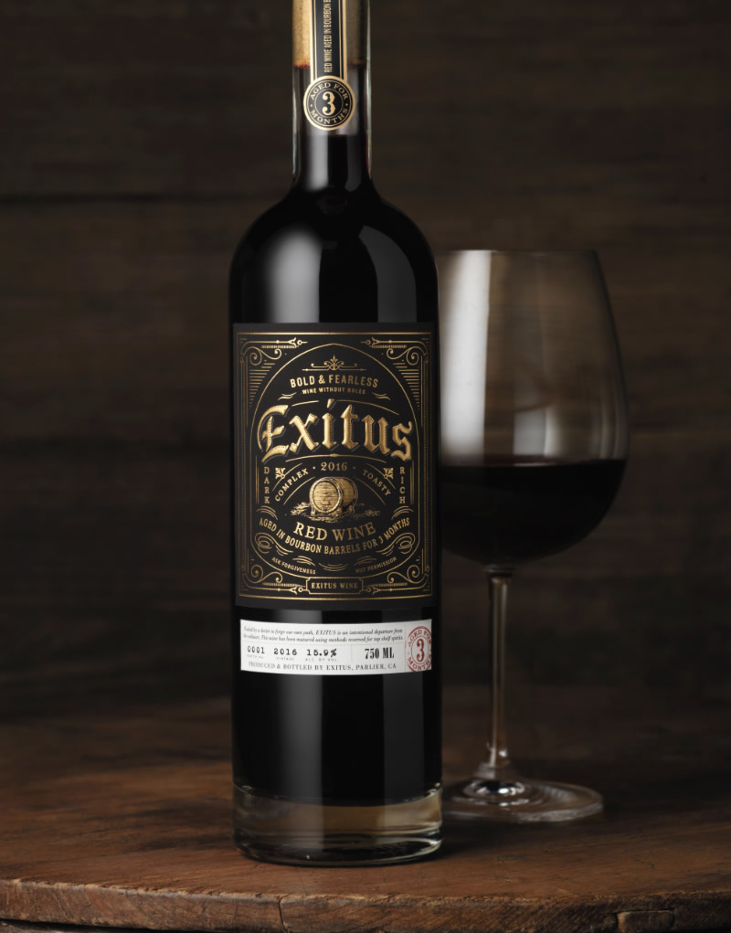 Exitus Wine Packaging Design & Logo