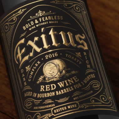 Exitus Bourbon Barrel Aged Red Wine