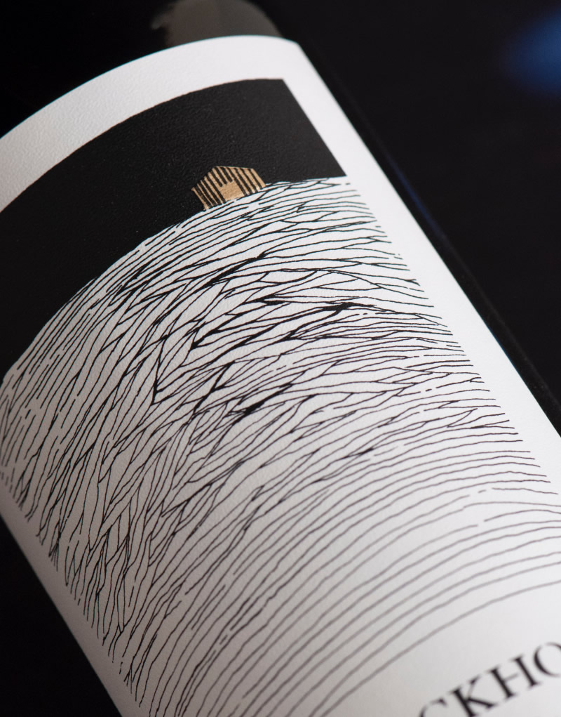 Backhouse Wine Packaging Design & Logo Label Detail