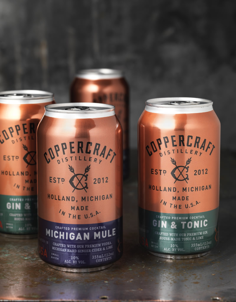 Coppercraft Canned Cocktails Packaging Design & Logo