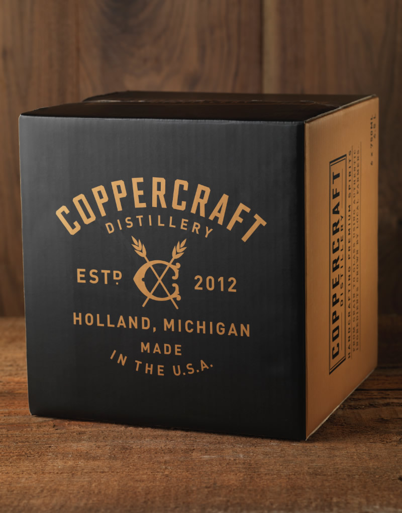 Coppercraft Distillery Shipper Design
