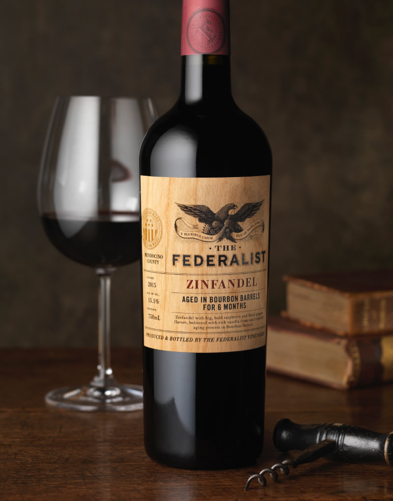 The Federalist Wine Packaging Design & Logo