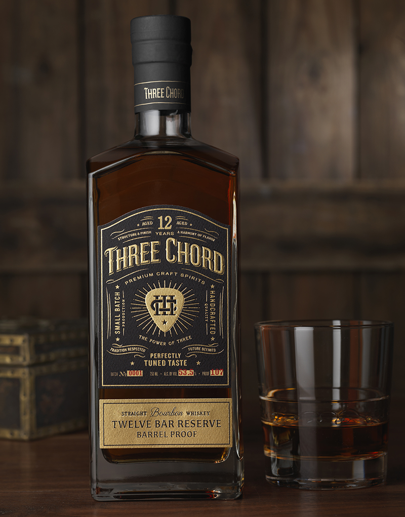 Three Chord Distilling Bourbon Packaging Design & Logo Bar Twelve Reserve