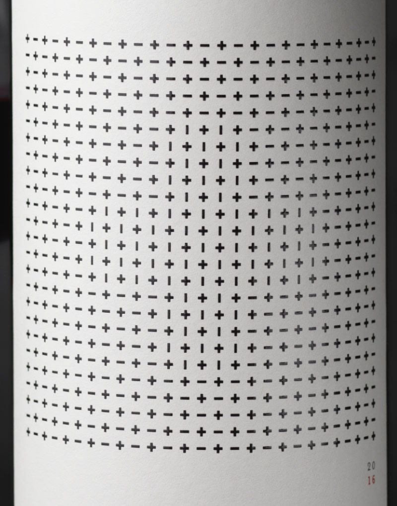 Calculated Risk Wine Packaging Design & Logo Close Up