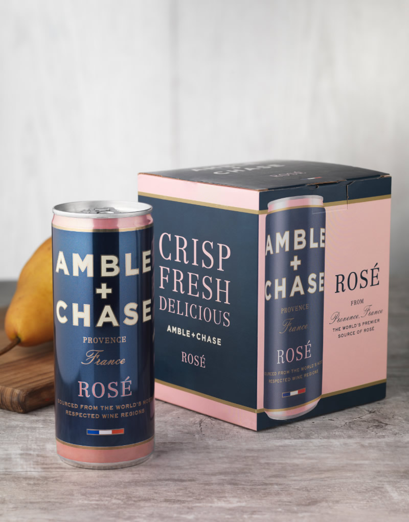 Amble + Chase Wine Packaging Design & Logo & Box