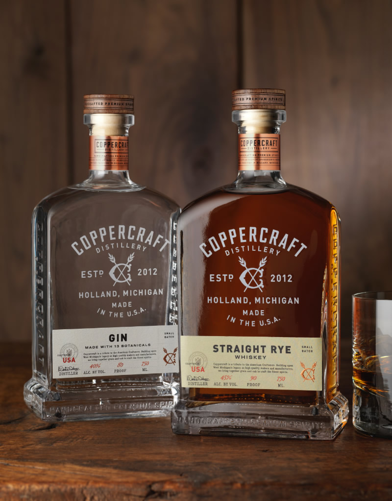 Coppercraft Distillery Spirits Packaging & Logo Design