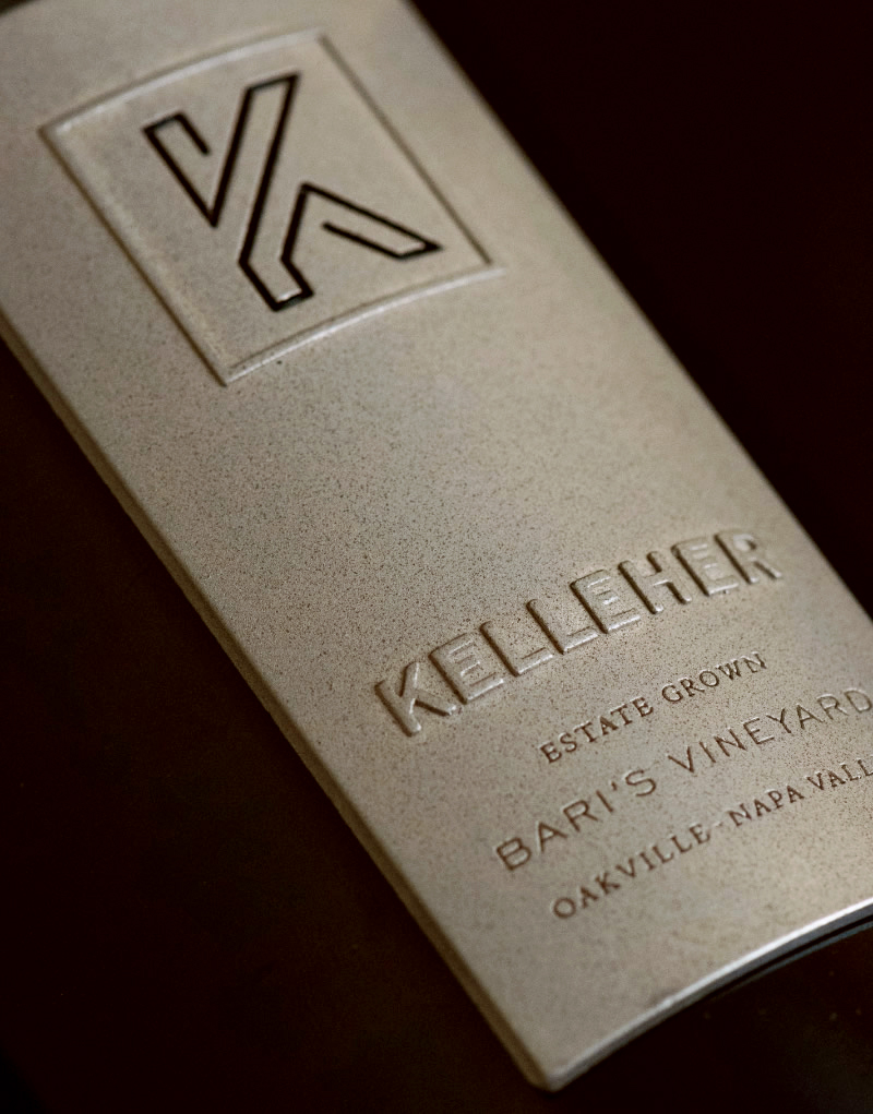 Kelleher Family Vineyards Wine Packaging Design & Logo Bari's Vineyard Label Detail