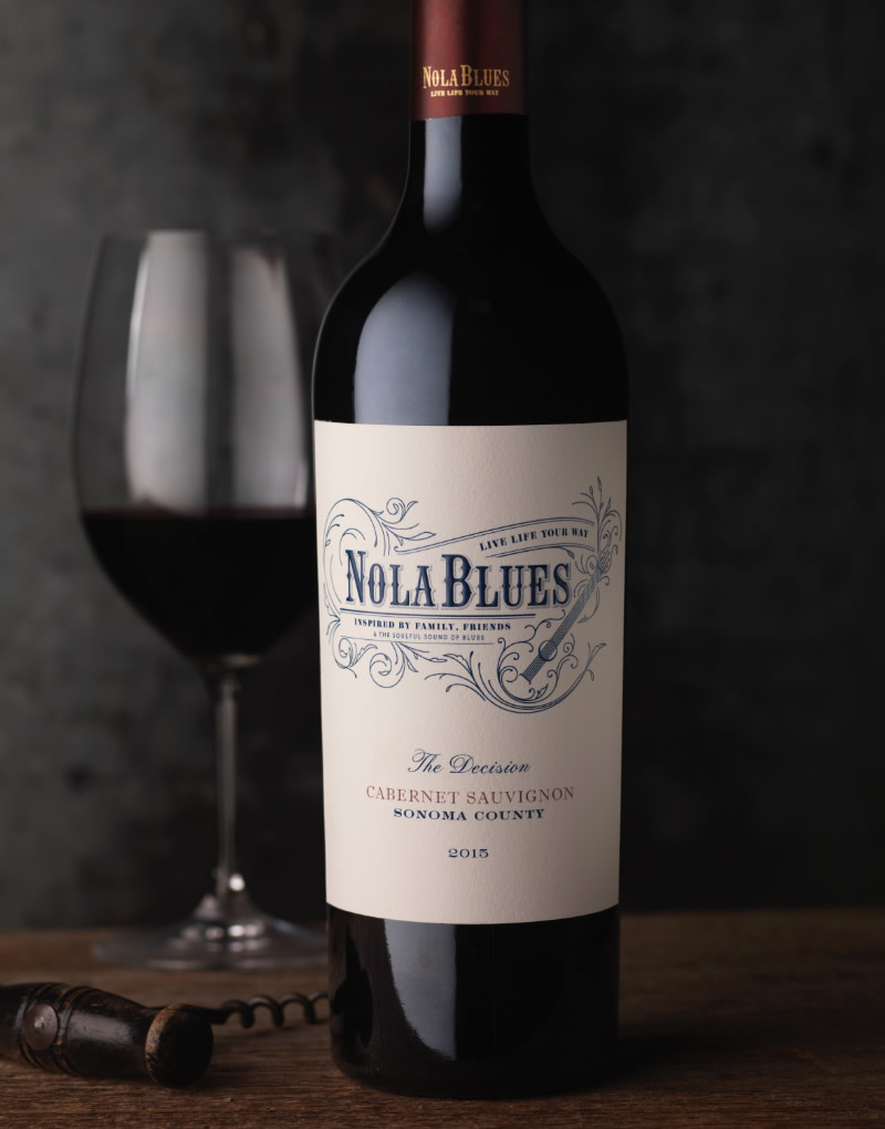 Nola Blues Wine Packaging Design & Logo