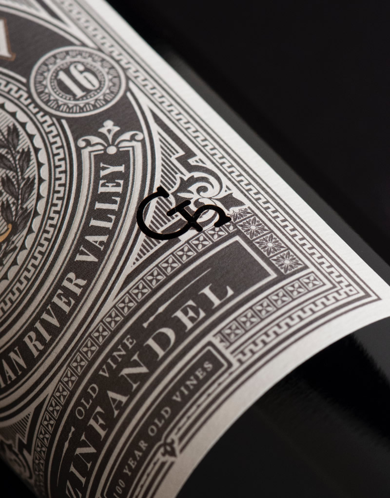 Gathesa Wine Packaging Design & Logo Label Detail