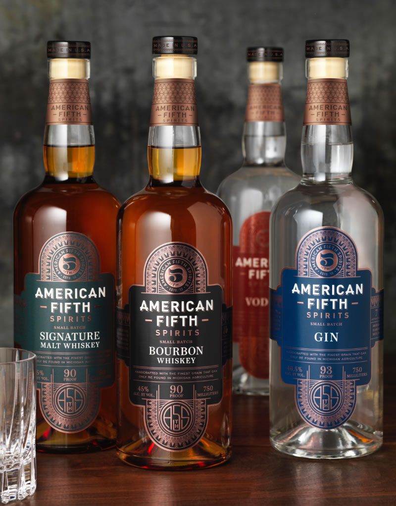 American Fifth Spirits Packaging Design & Logo