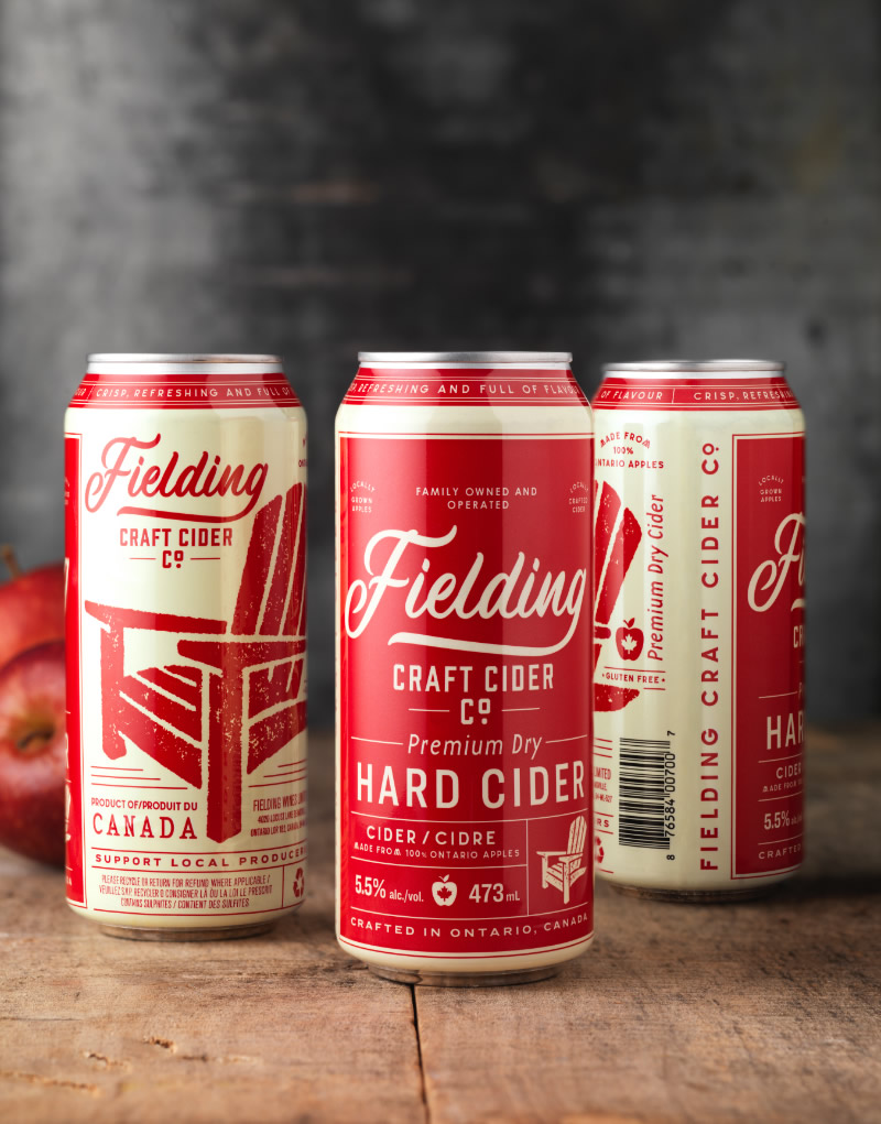 Fielding Hard Cider Packaging Design & Logo