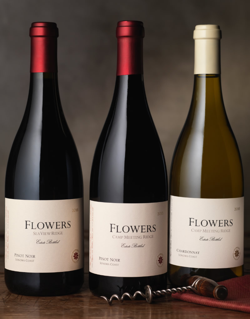 Flowers Vineyards & Winery Packaging Design & Logo Estate