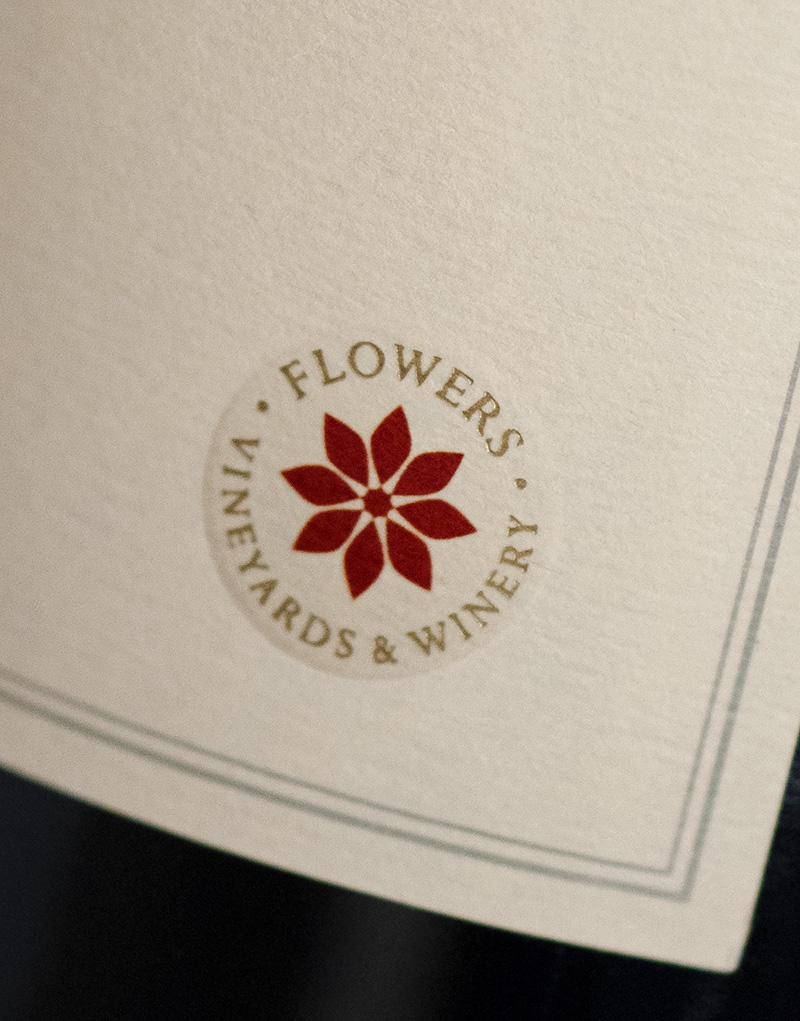 Flowers Vineyards & Winery Sonoma Coast Wine Packaging Design & Logo