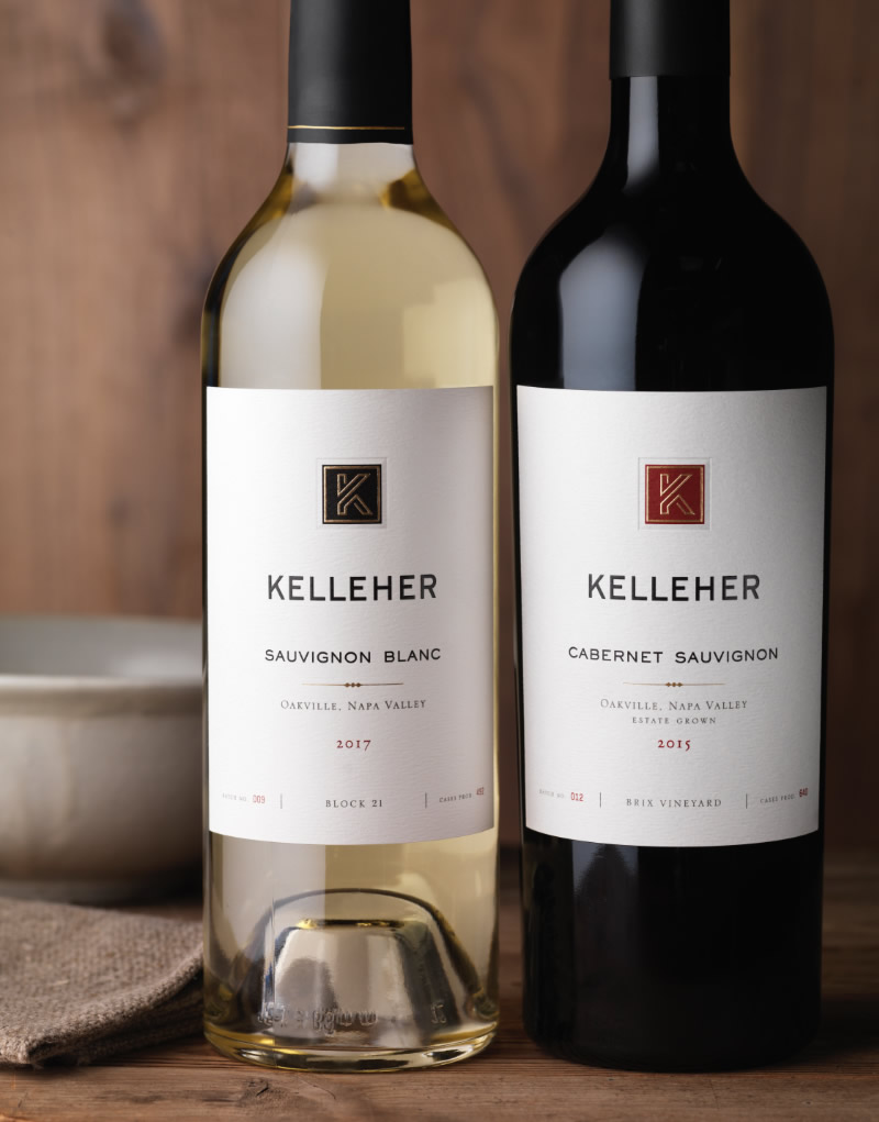 Kelleher Family Vineyards Wine Packaging Design & Logo