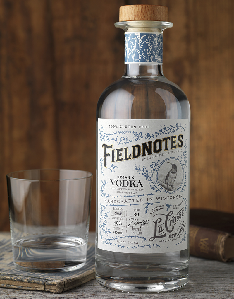 Fieldnotes Corn Vodka Packaging Design & Logo