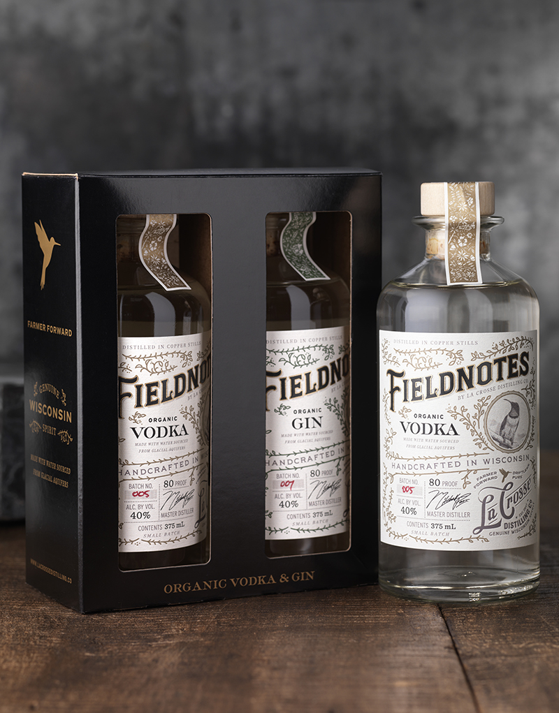 Fieldnotes Vodka & Gin 2 Pack Gift Box Design