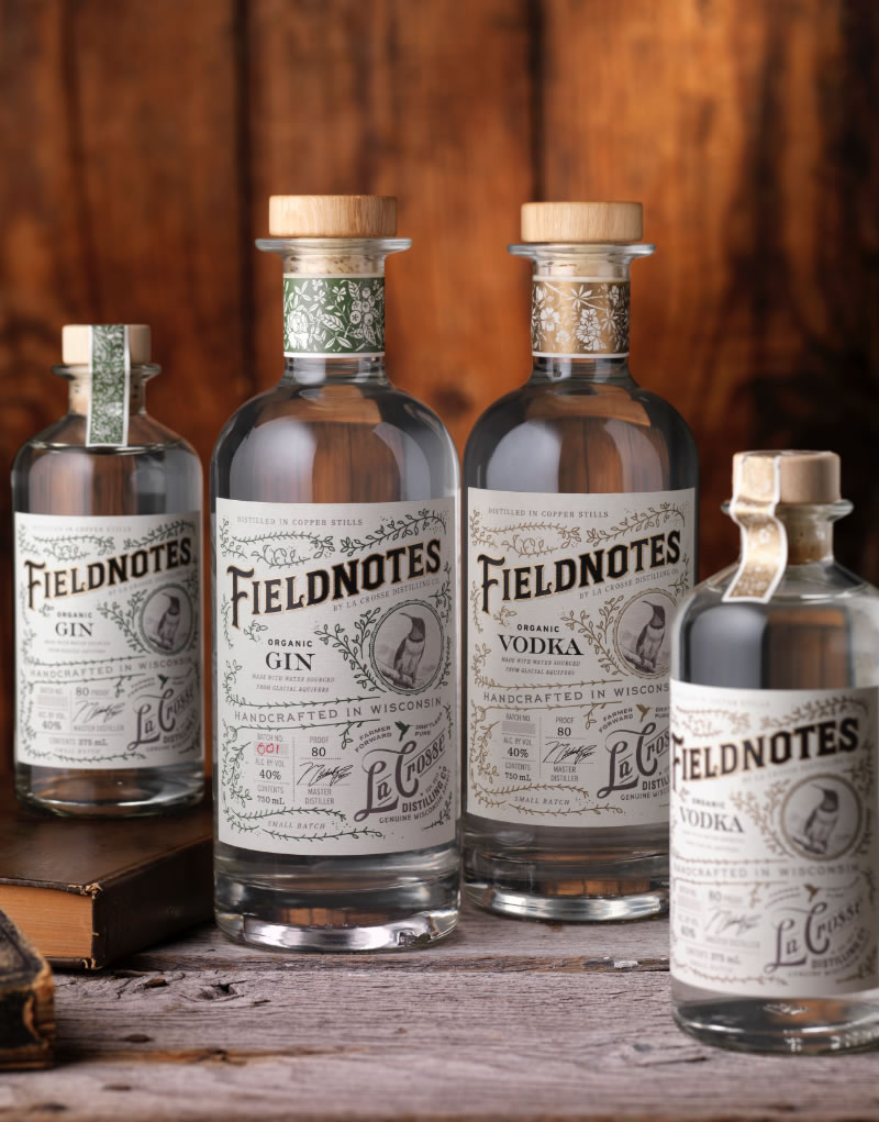 Fieldnotes Spirits Packaging Design & Logo