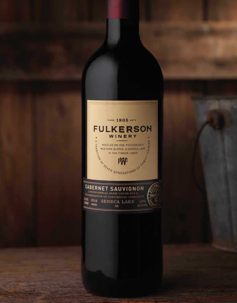Fulkerson Winery Packaging Design & Logo