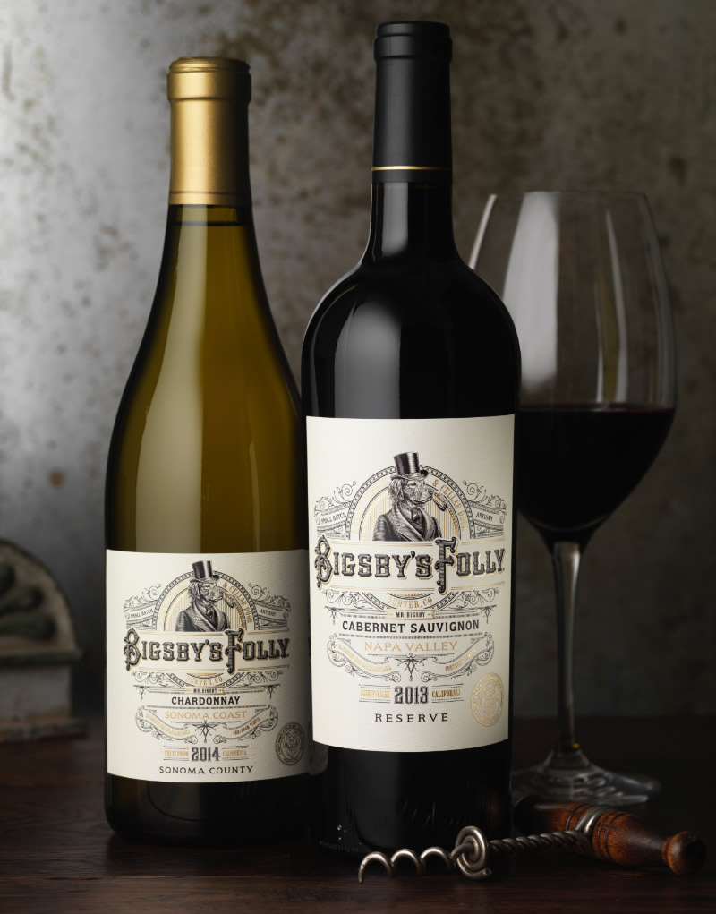 Bigsby's Folly Wine Packaging Design & Logo