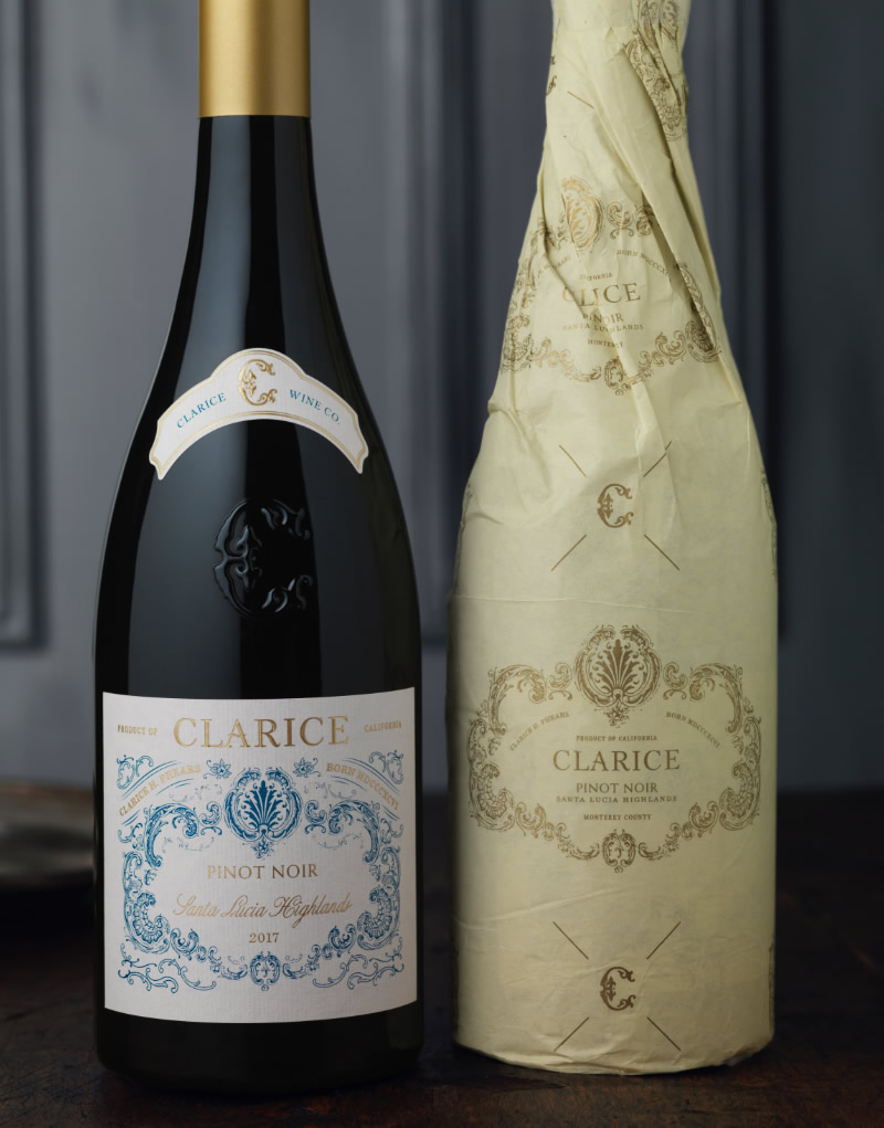 Clarice Wine Packaging Design & Logo & Branded Tissue