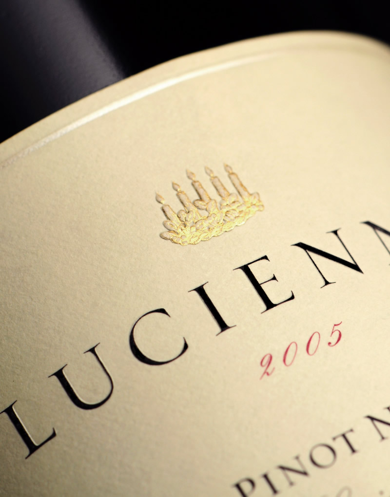 Hahn Family Wines Packaging Design & Logo Lucienne Label Detail