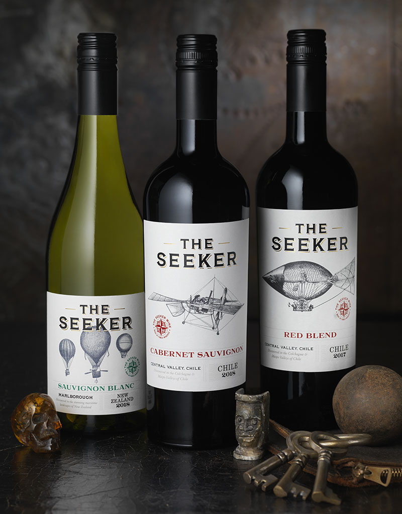 The Seeker Wine Packaging Design & Logo