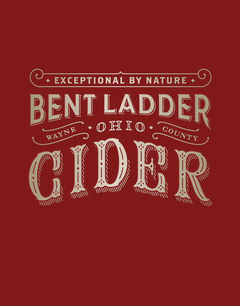 Bent Ladder Hard Cider Logo Design