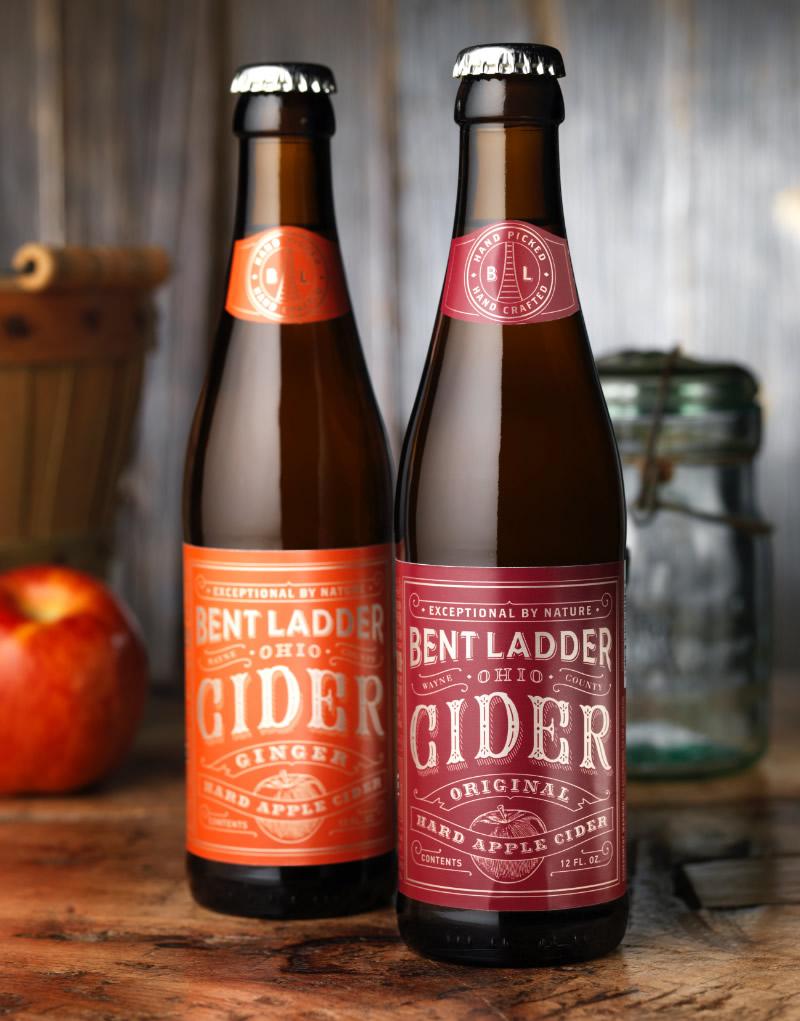 Bent Ladder Hard Cider Packaging Design & Logo