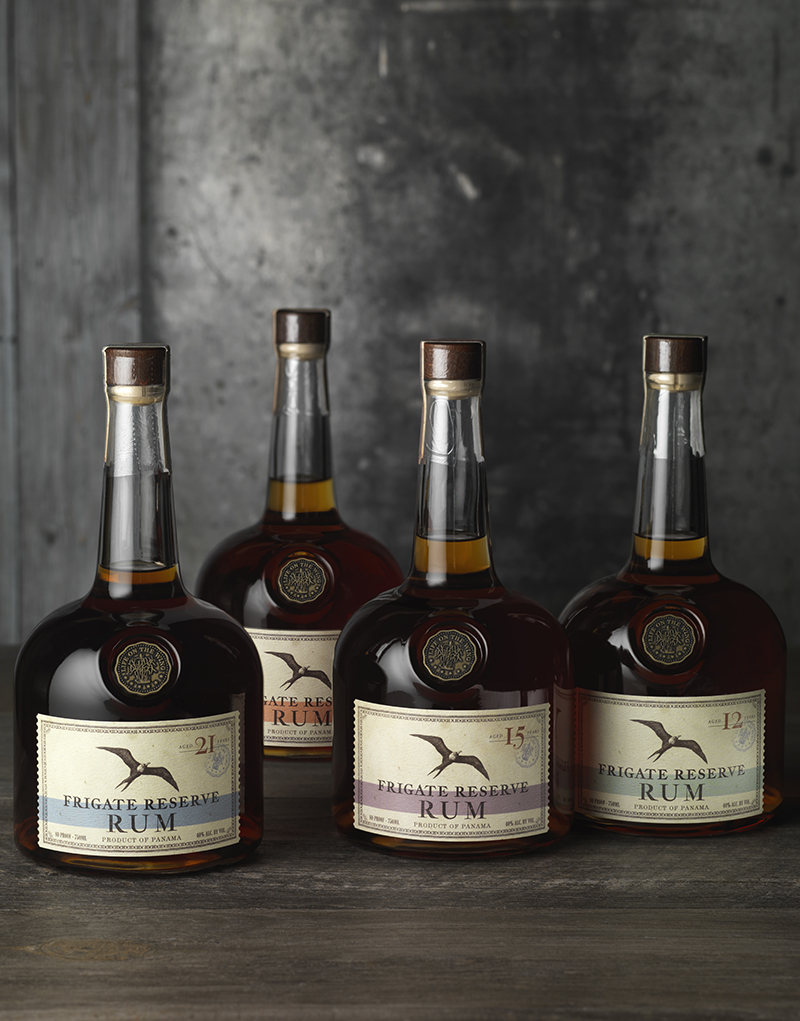 Frigate Reserve Rum Packaging Design & Logo