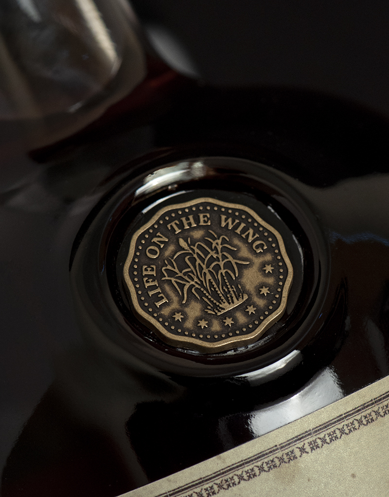 Frigate Reserve Rum Packaging Design & Logo Coin Detail
