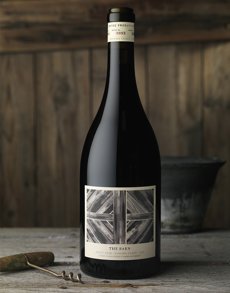 Kenwood Vineyards The Barn Wine Packaging Design & Logo