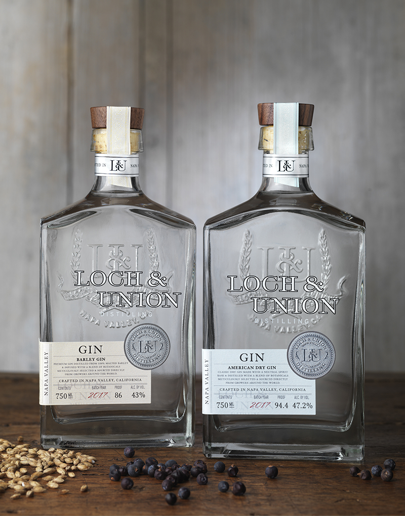 Loch & Union Distillery Gin Packaging Design & Logo