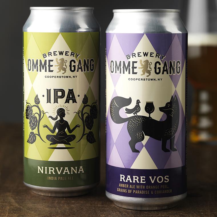 Brewery Ommegang Beer Can Packaging Design & Logo