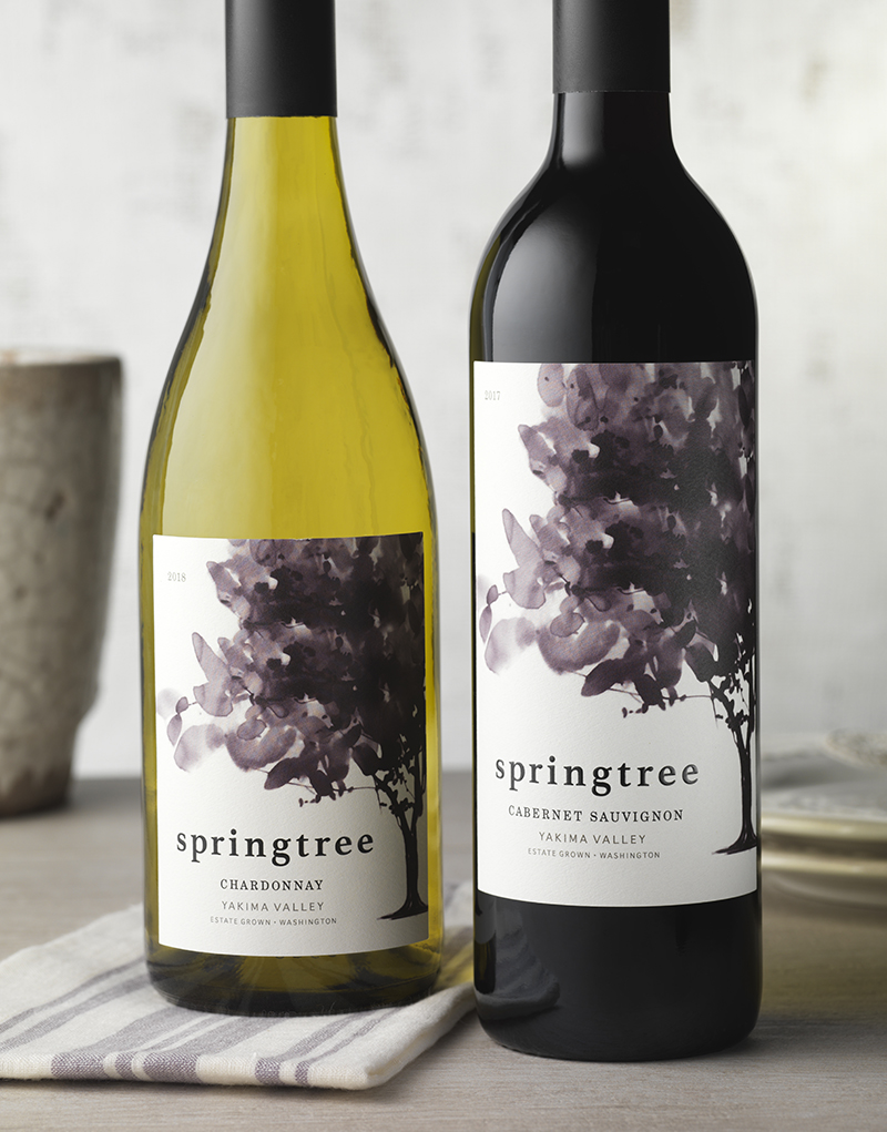 Springtree Wine Packaging Design & Logo