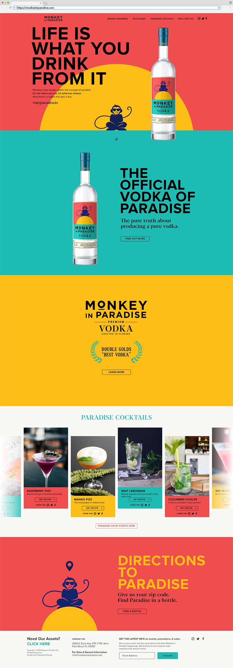 Monkey in Paradise Home Page Website Design