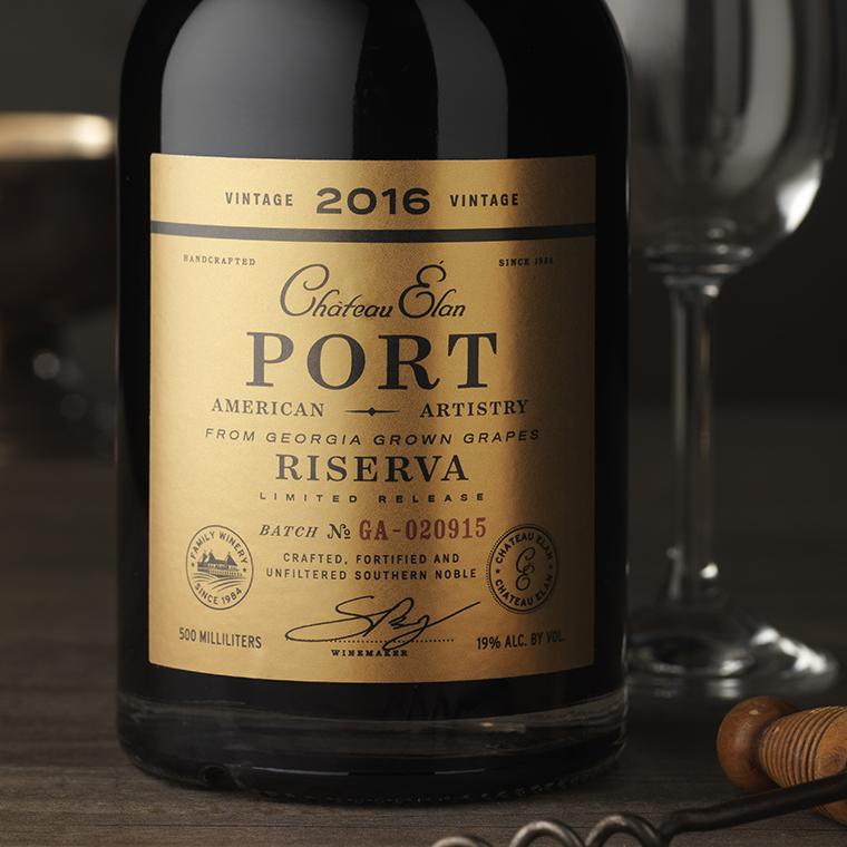 CF Napa Brand Design - Chateau Élan Port Wine Packaging