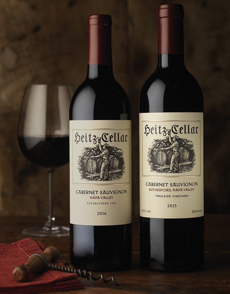 Heitz Cellar Wine Packaging Design & Logo Cabernet Sauvignon