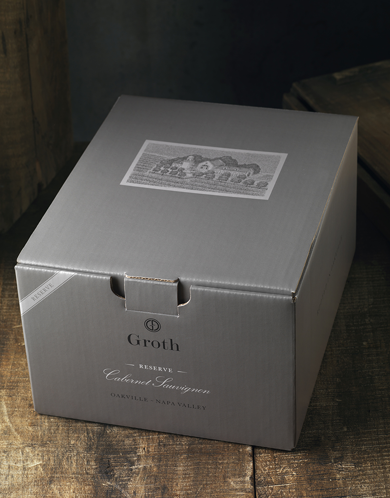 Groth Vineyards & Winery 6 Pack Shipper Design