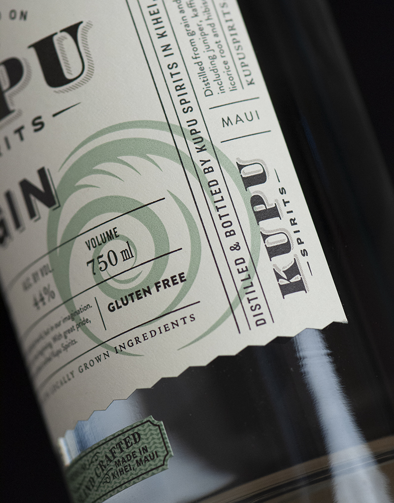 Kupu Spirits Packaging Design & Logo Label Logo Detail