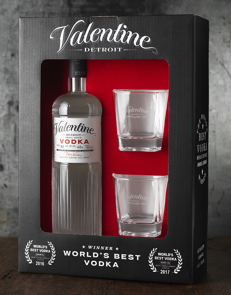 Valentine Distilling Co. Gift Box Design