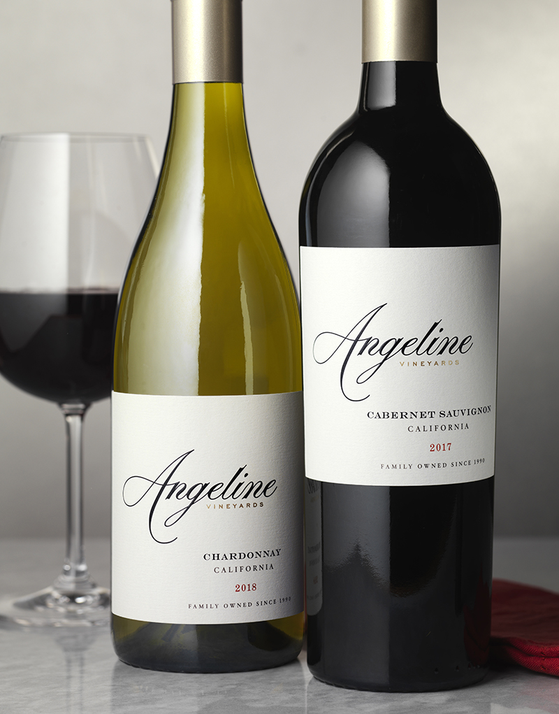 Angeline Vineyards Wine Packaging Design & Logo Core Tier Wines