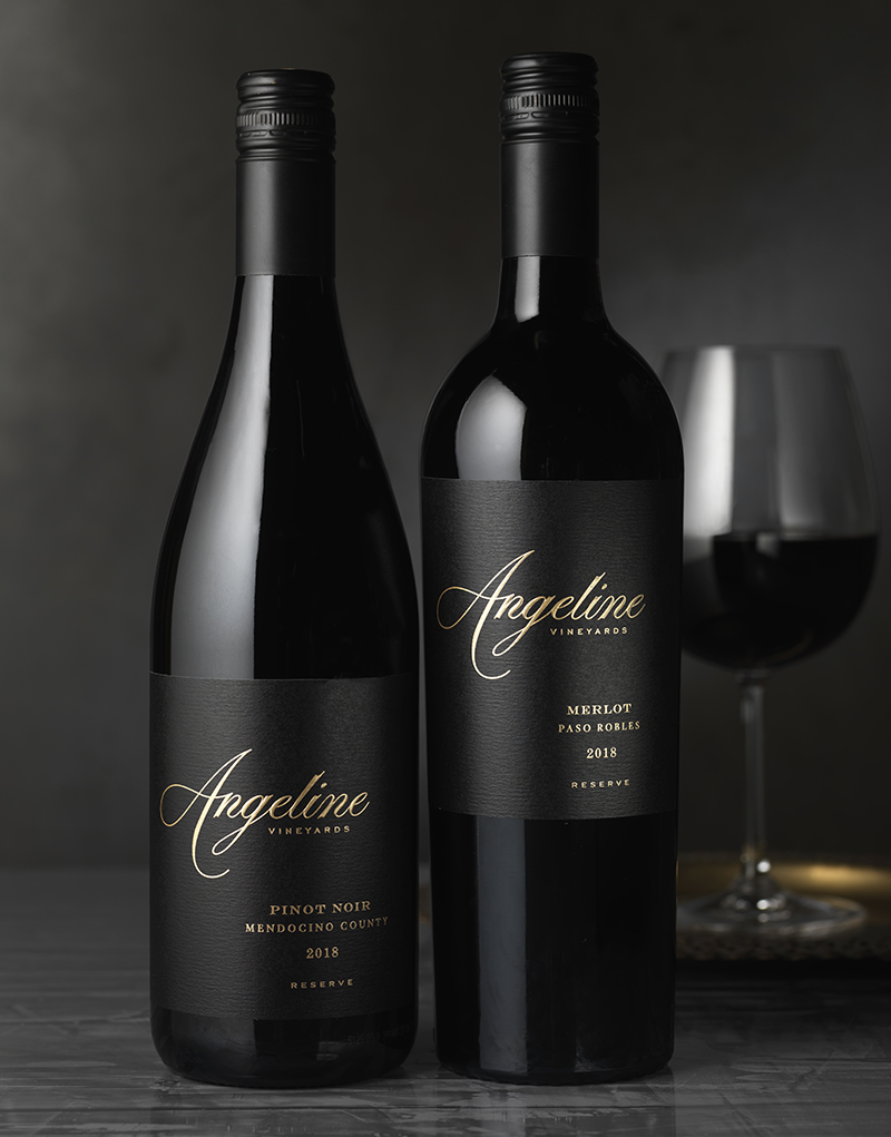 Angeline Vineyards Wine Packaging Design & Logo Reserve Wines