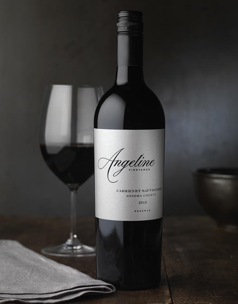Angeline Vineyards Wine Packaging Design & Logo Ultra Reserve Cabernet Sauvignon