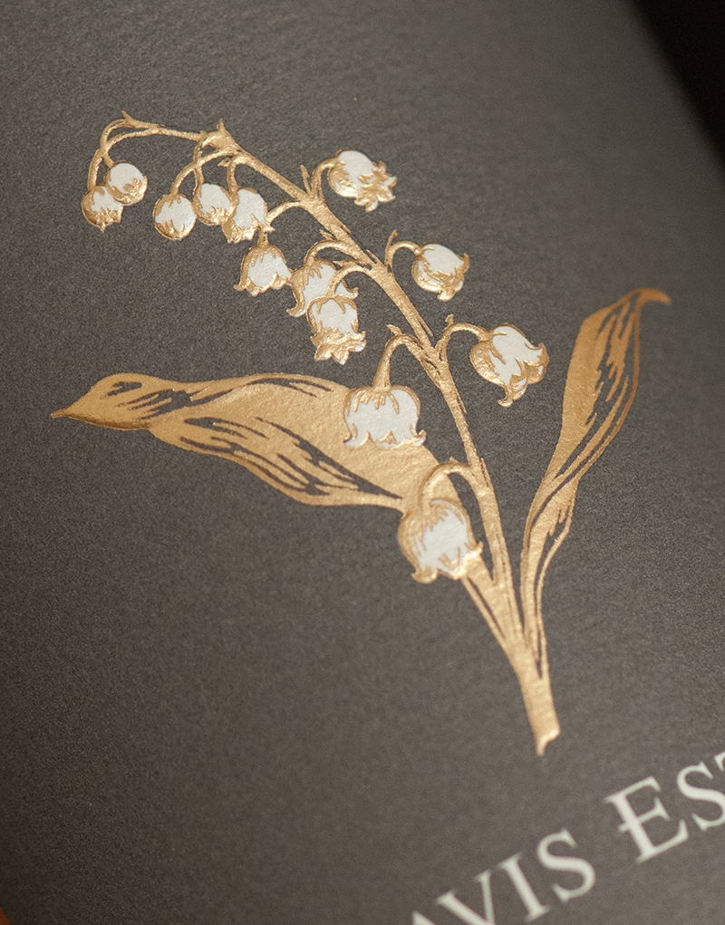 Davis Estate Lily Fleur Wine Packaging Design & Logo Label Detail