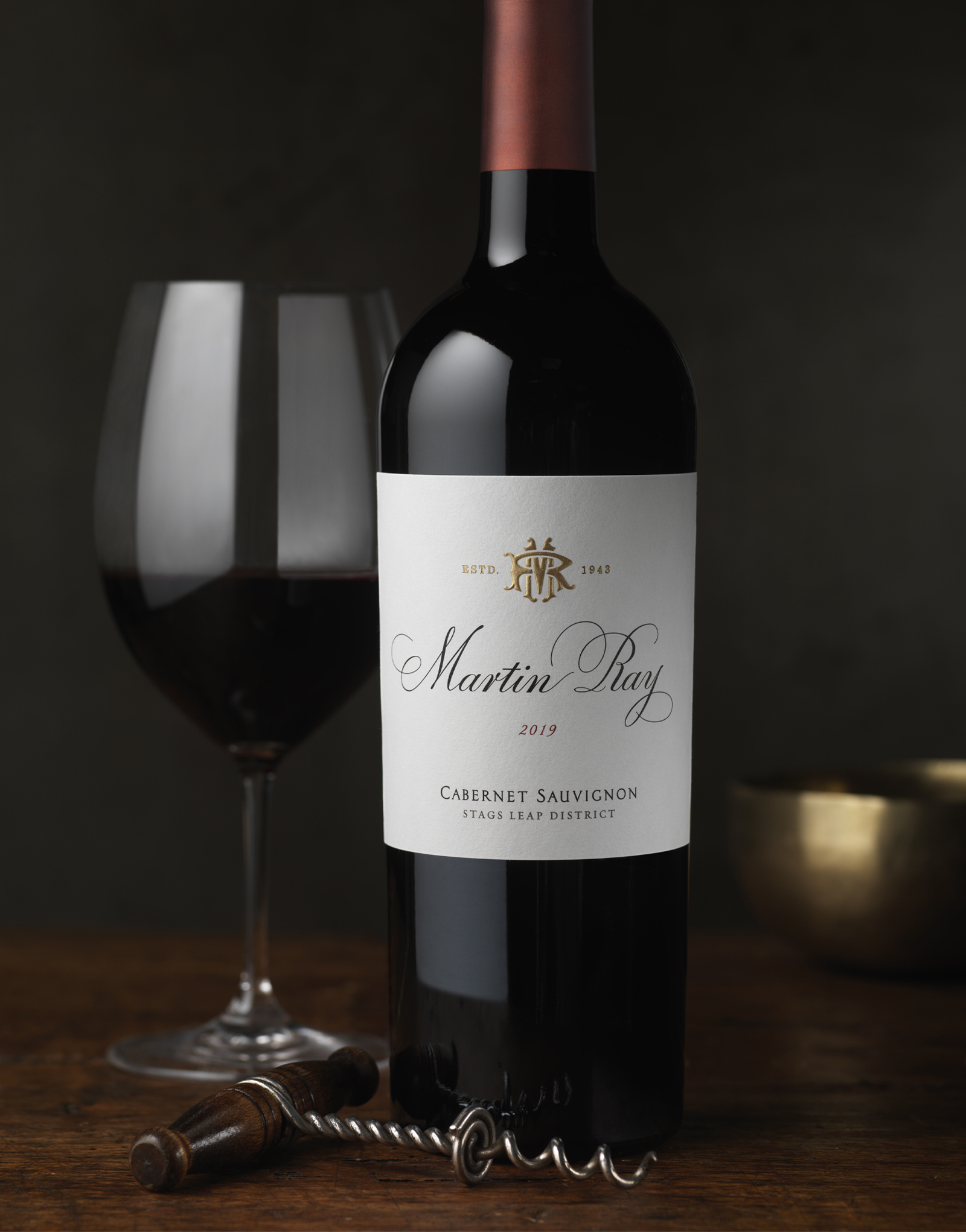 Martin Ray Vineyards & Winery Reserve Stags Leap Cabernet Sauvignon Wine Packaging Design & Logo
